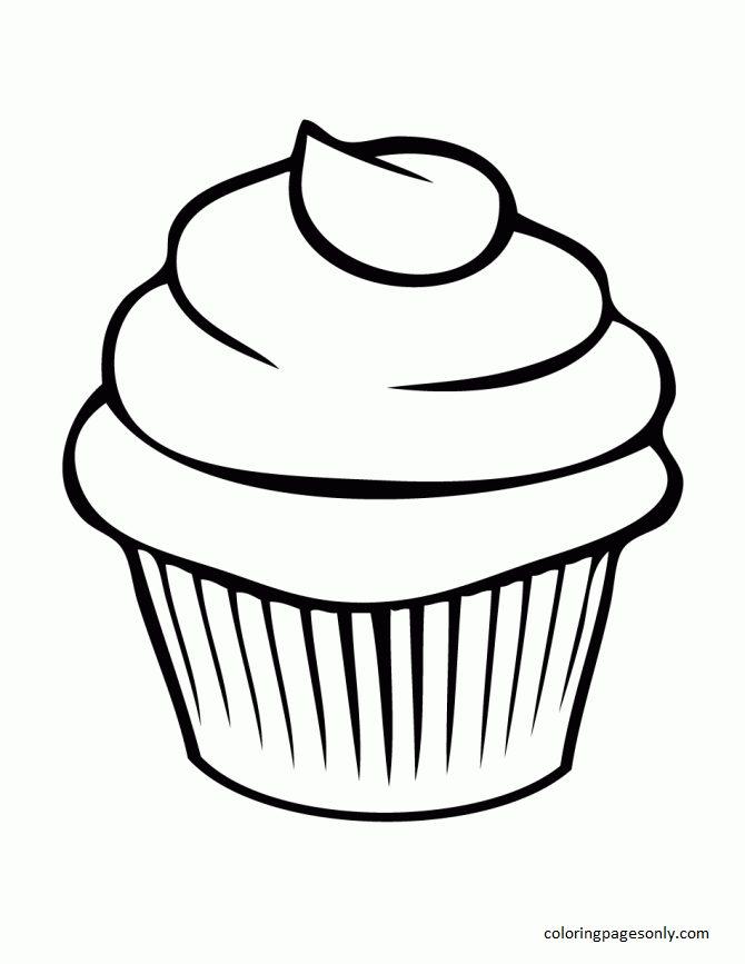 Cupcake 10 Coloring Page