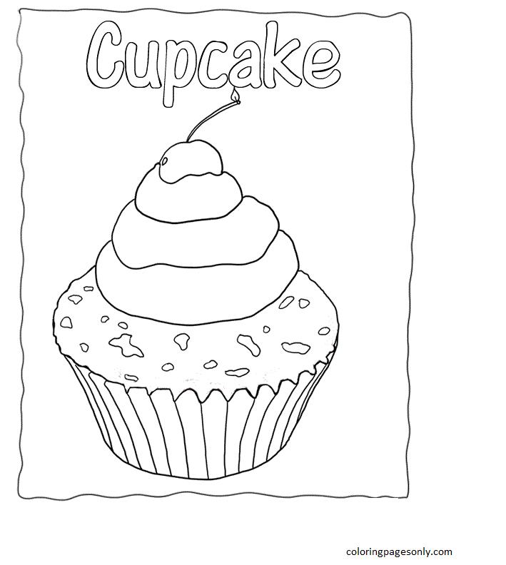 Cupcake 11 Coloring Page