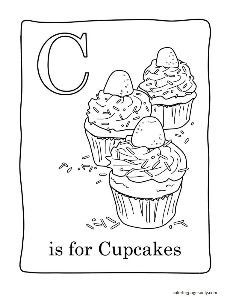 Cupcake 12 Coloring Page