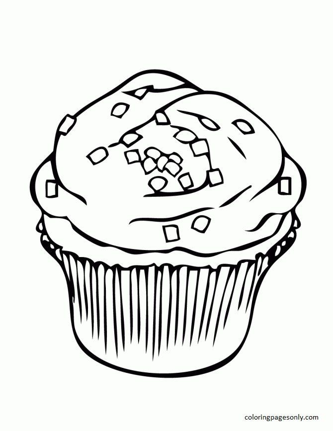 Cupcake 13 Coloring Page