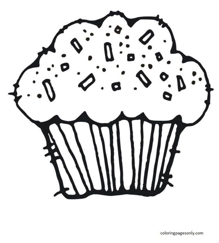 Cupcake 16 Coloring Page