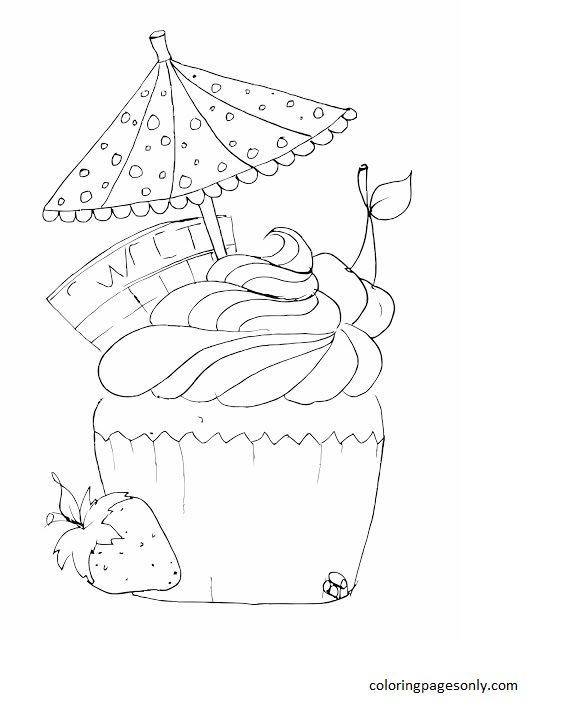 Cupcake 17 Coloring Page