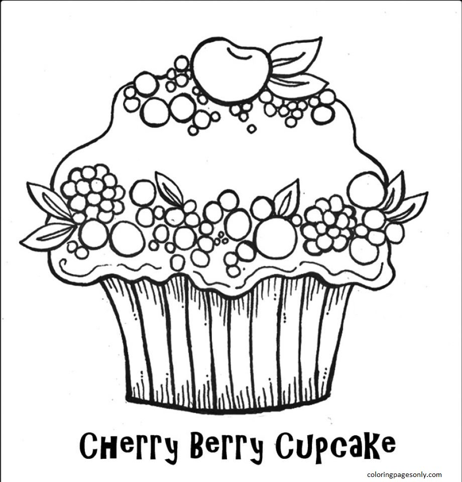 Cupcake 18 Coloring Page