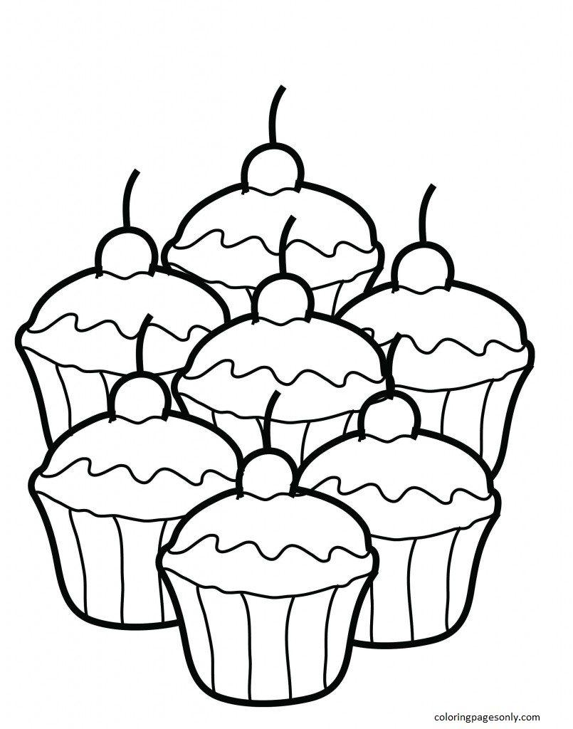 Cupcake 19 Coloring Page
