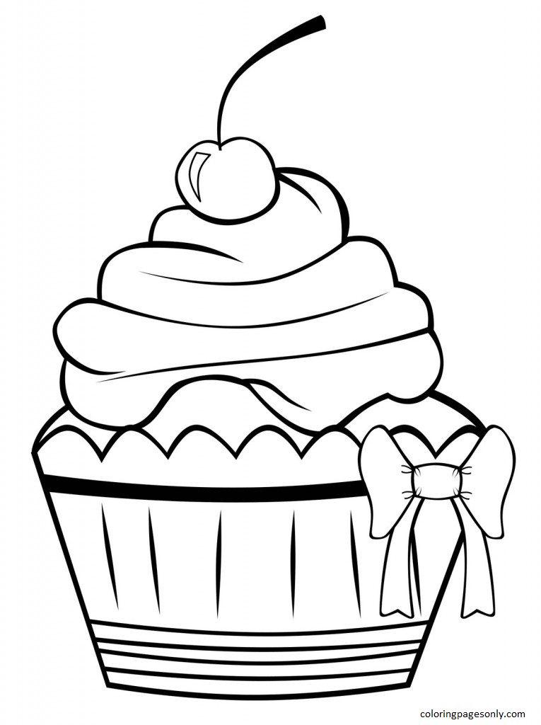 Cupcake 5 Coloring Page