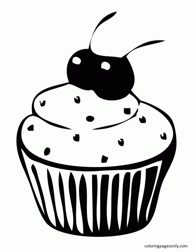 Cupcake 6 Coloring Page