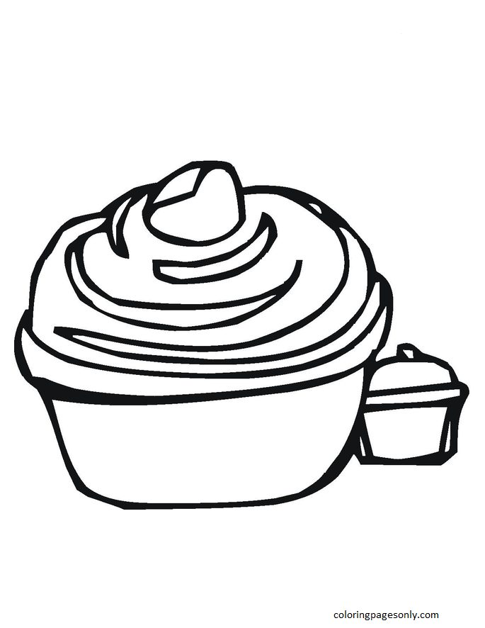 Cupcake 7 Coloring Page