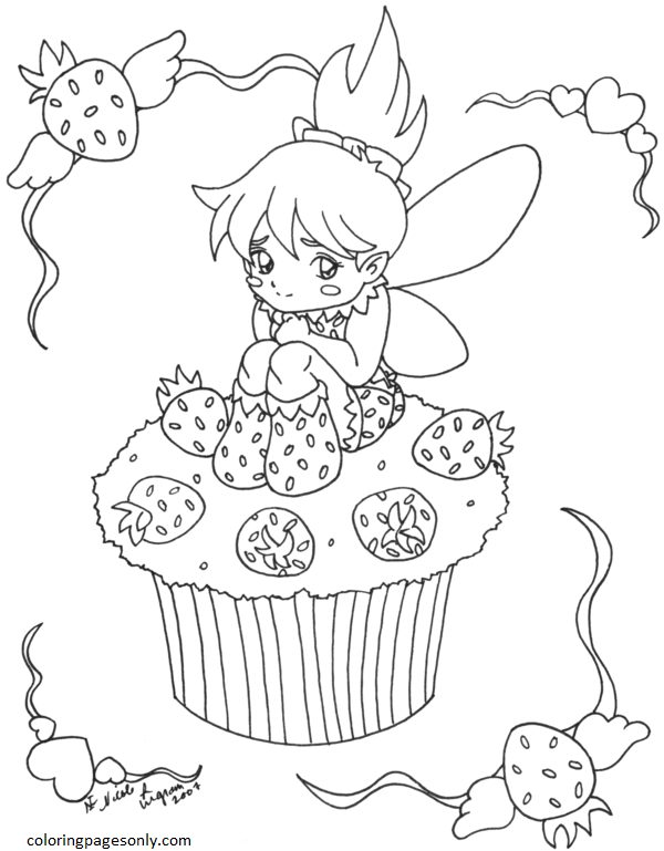 Cupcake 8 Coloring Page