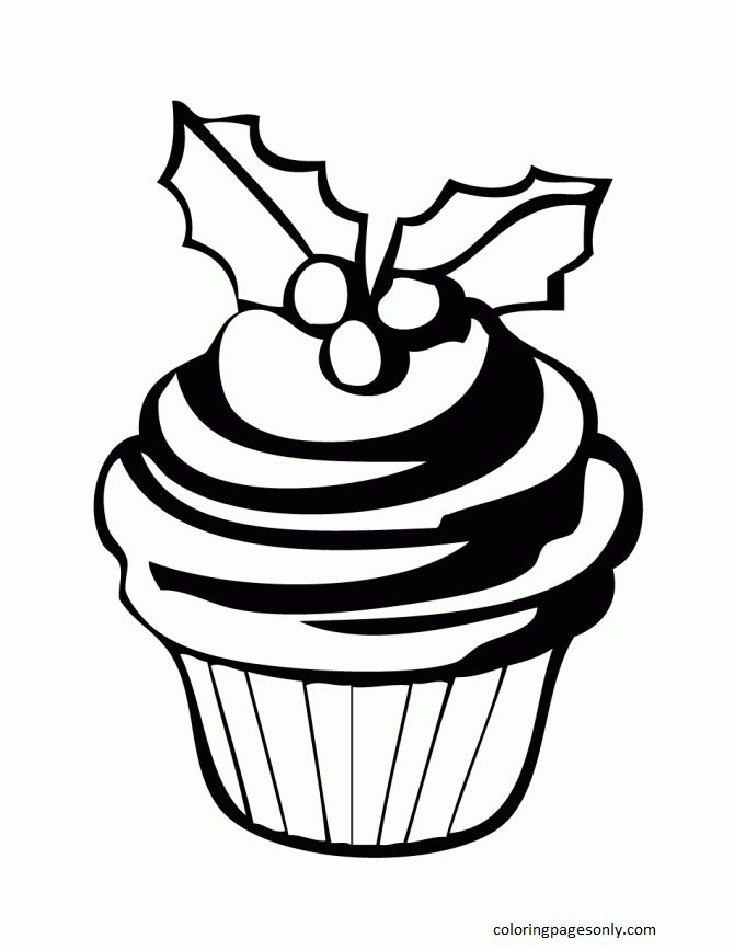 Cupcake 9 Coloring Page