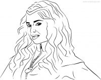 Draw Evie outline from Descendant Coloring Page