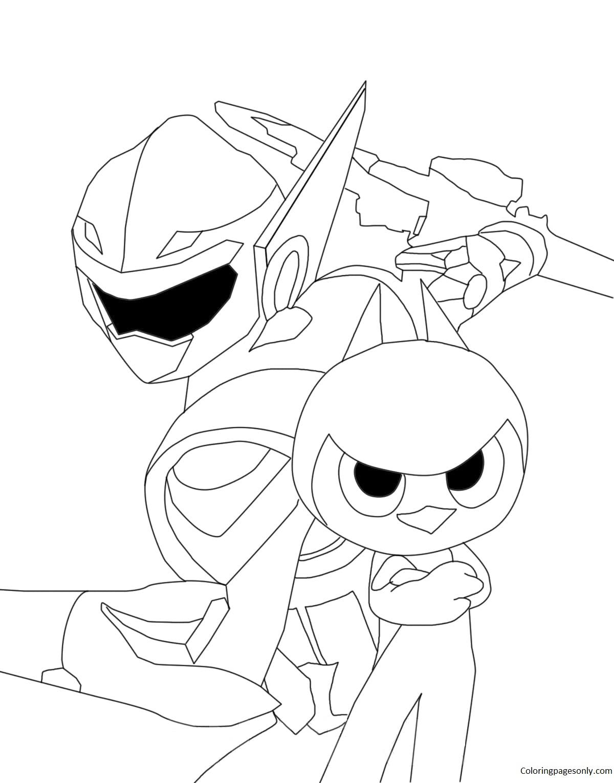 Hero Miniforce Coloring Page