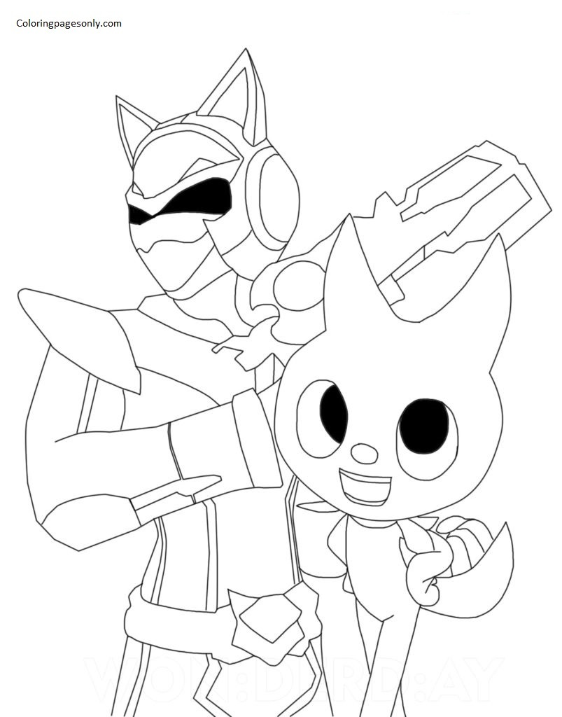 Lucy and the Ranger Miniforce X Coloring Page