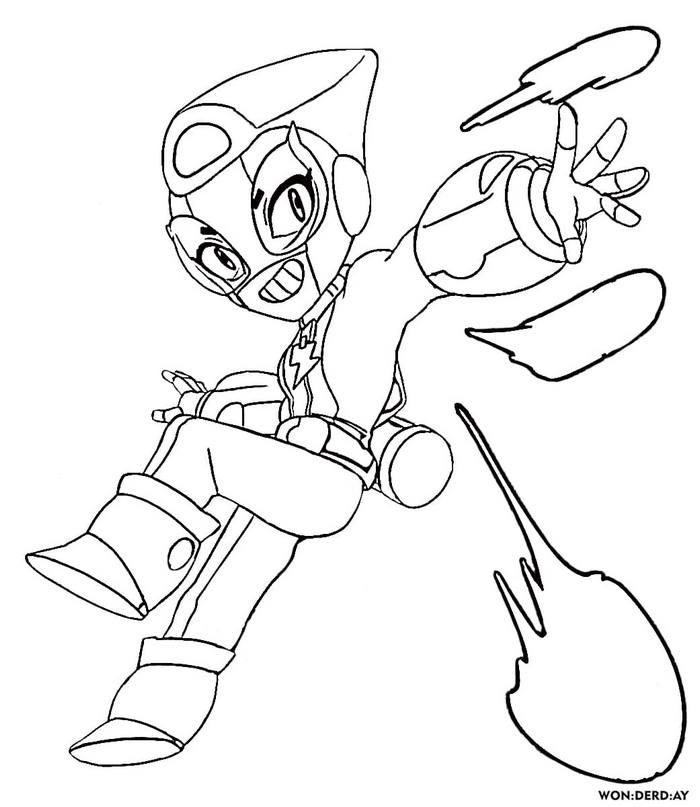 Miniforce Max Brawl Stars Coloring Page