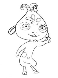 Pan Phuddle from Mia and me is a goofy and clumsy Coloring Page