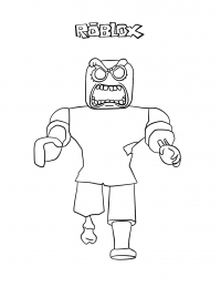 The Roblox Zombie shows its teeth Coloring Page