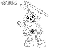 Skeleton from Ninjago raise its pickaxe Coloring Page