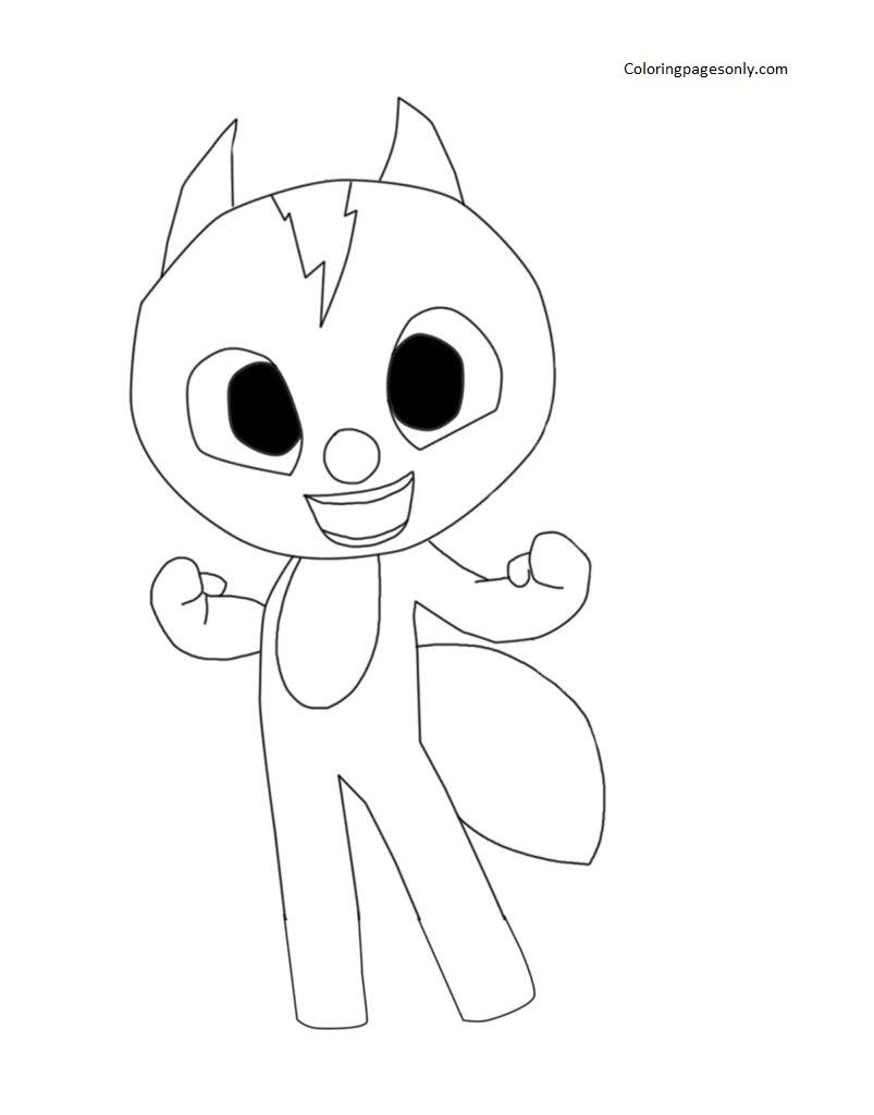 Volt the squirrel Miniforce Coloring Page