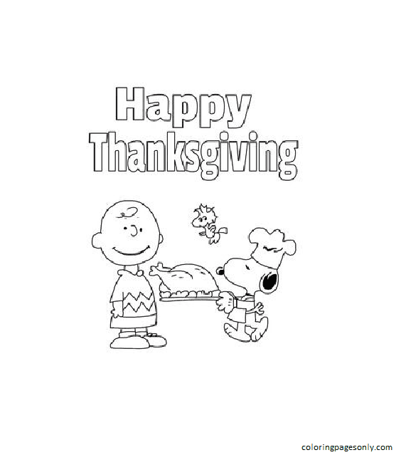 A Charlie Brown Thanksgiving Activity Packet Coloring Page