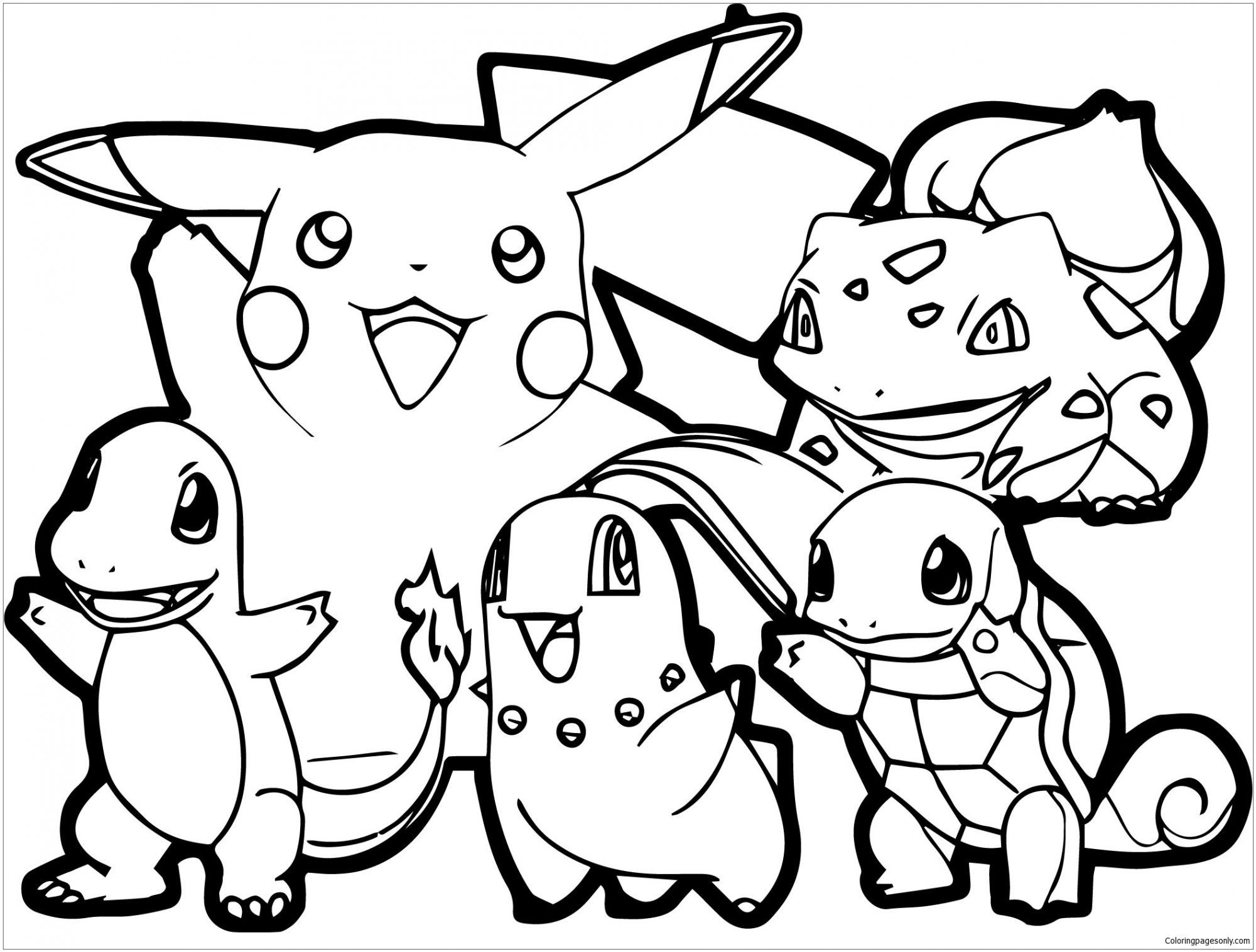 Adult Pokemon Coloring Pages