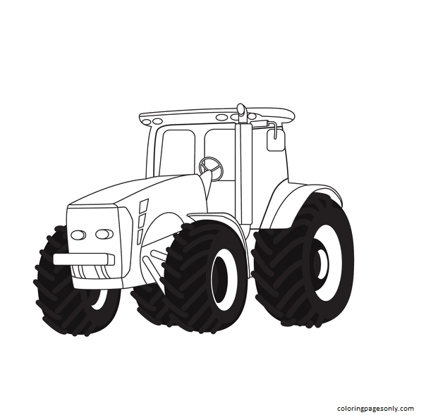 Agriculture Tractor Coloring Page