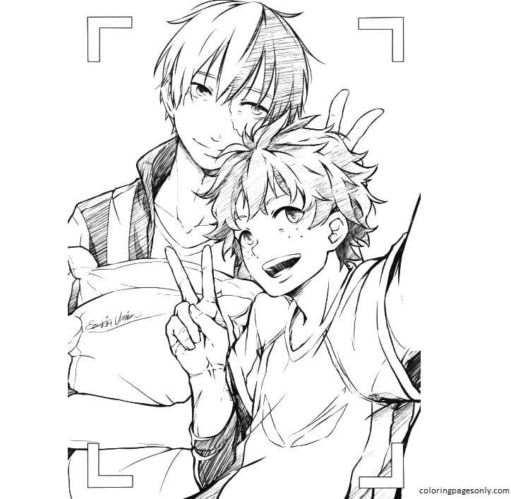 Anime Boys My Hero Academia Coloring Page