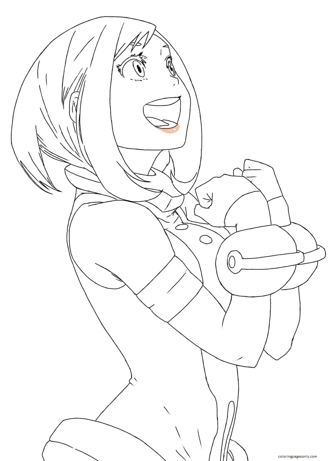 Anime Uravity Coloring Page
