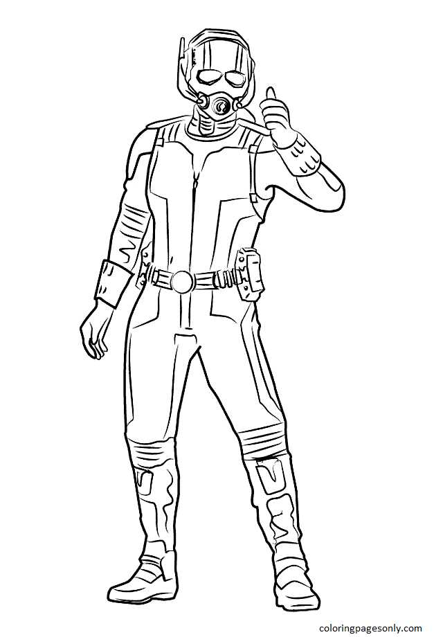 Ant-Man from Captain America Civil War Coloring Page
