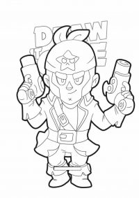 Brawl Stars Colt wears a star head scarf Coloring Page