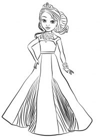 Princess audrey in prom dresses from Descendants Coloring Page