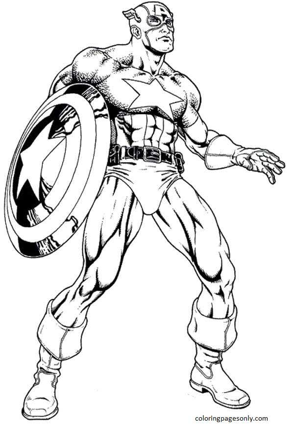 Avengers Captain America 2 Coloring Page