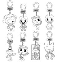 Bendy and the Ink Machine Character Keychains Coloring Page