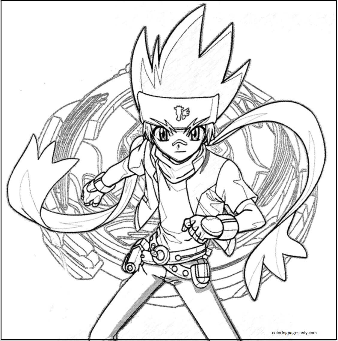 Beyblade Burst 10 Coloring Page