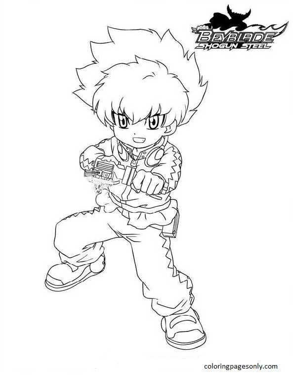 Beyblade Burst 13 Coloring Page