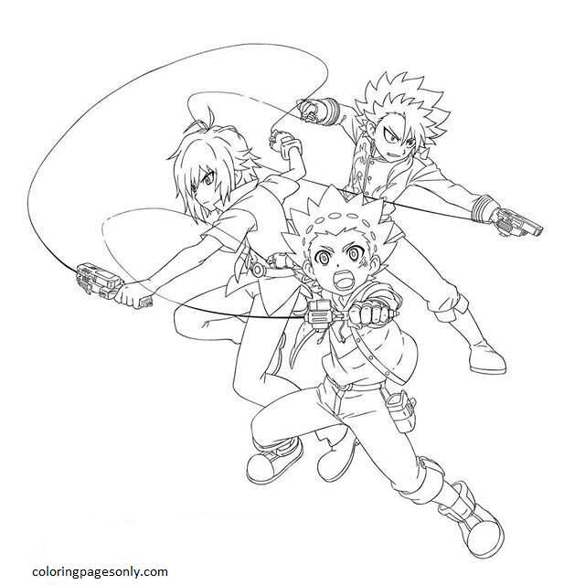Beyblade Burst 14 Coloring Page