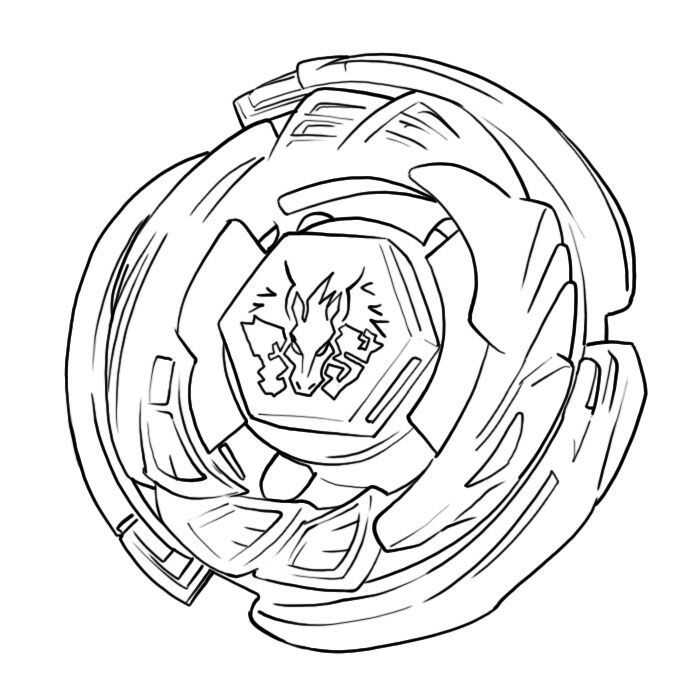 Beyblade Burst 15 Coloring Page