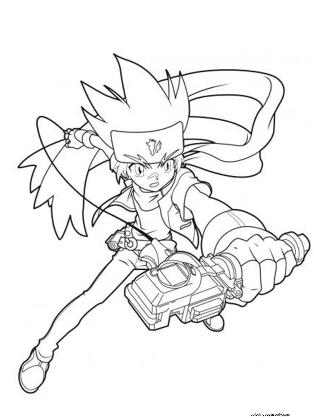 Beyblade Burst 16 Coloring Page