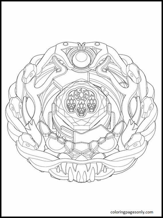 Beyblade Burst 17 Coloring Page