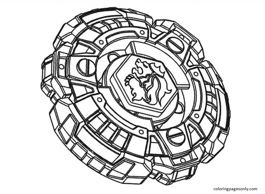 Beyblade Burst 19 Coloring Page