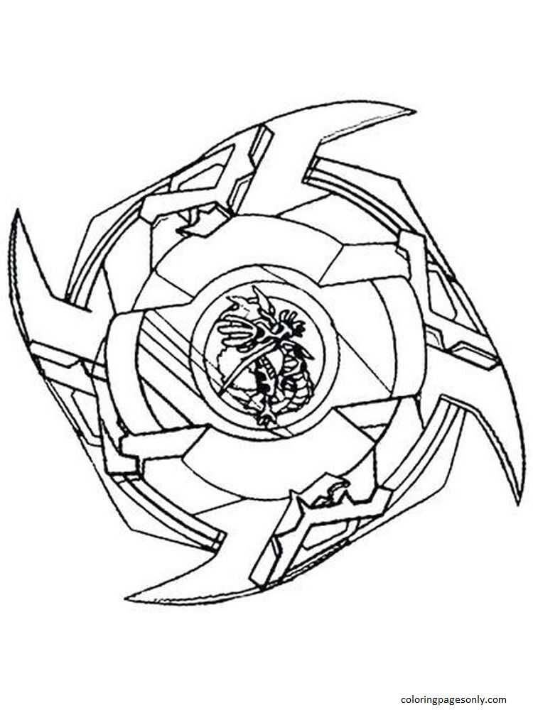 Beyblade Burst 1 Coloring Page