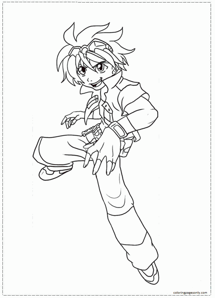 Beyblade 2 Coloring Page