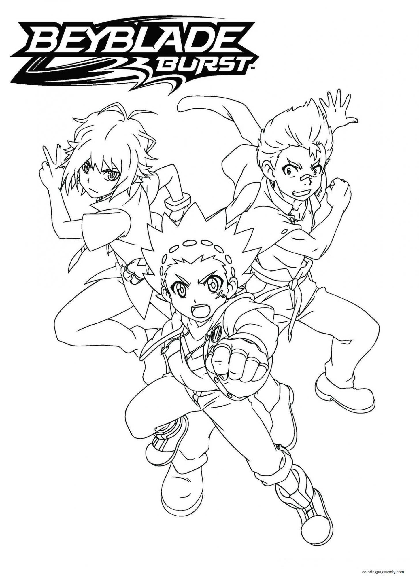 Beyblade Burst 20 Coloring Page