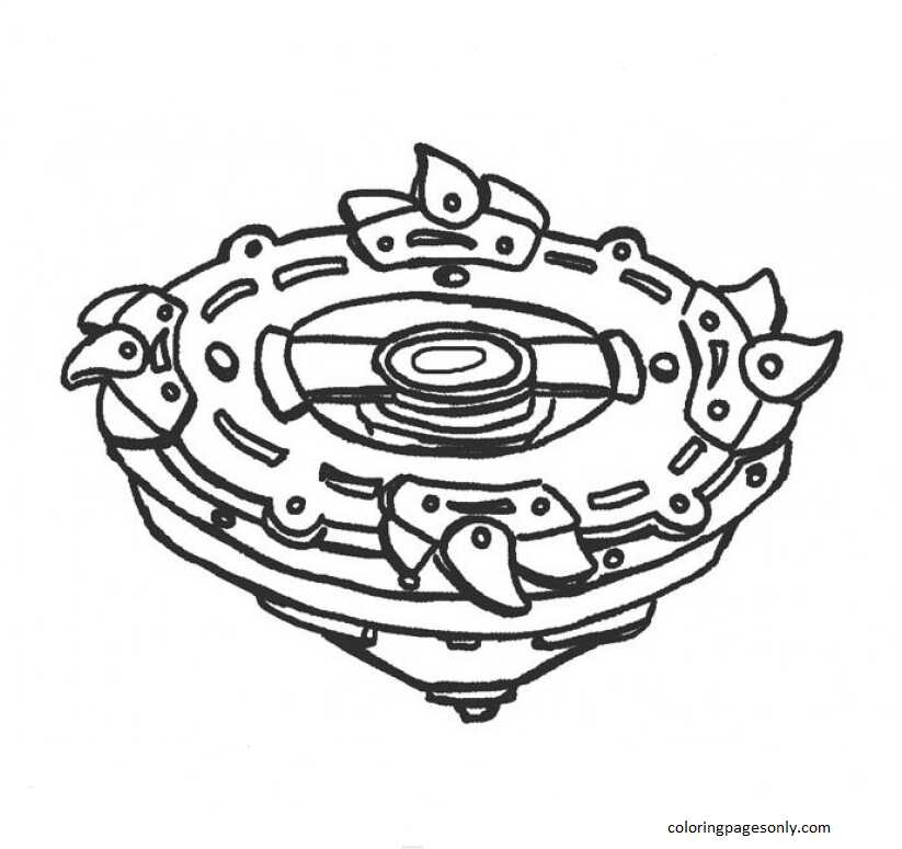 Beyblade Burst 22 Coloring Page