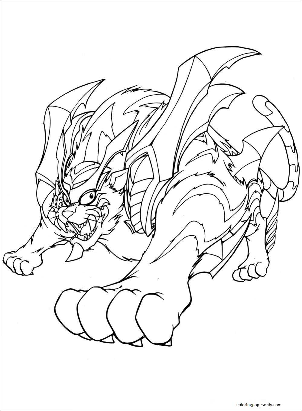 Beyblade Burst 23 Coloring Page