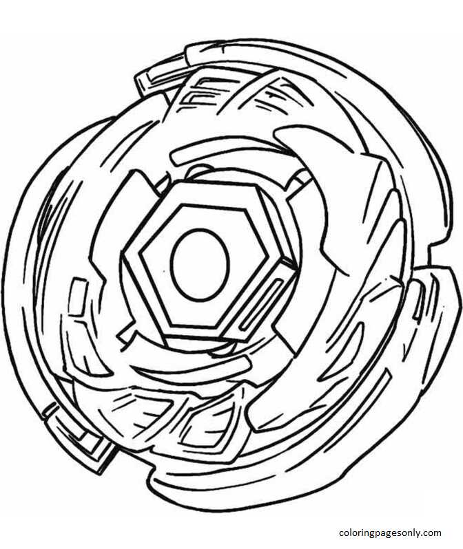 Beyblade Burst 25 Coloring Page