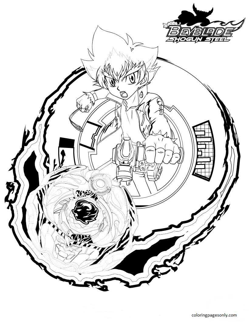Beyblade Burst Coloring Page