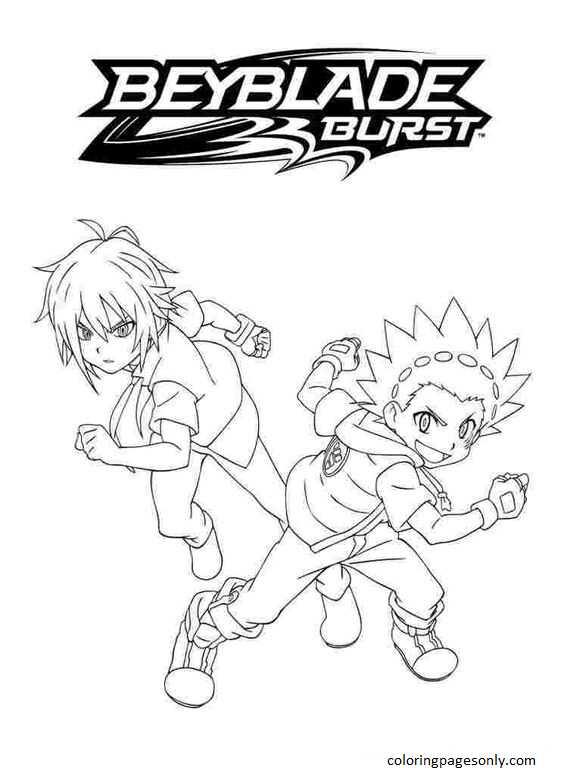 Beyblade Burst 27 Coloring Page
