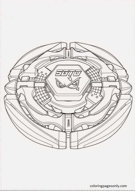 Beyblade Burst 28 Coloring Page