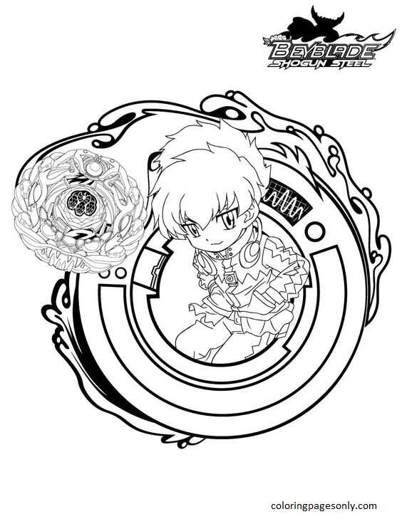 Beyblade Burst 29 Coloring Page