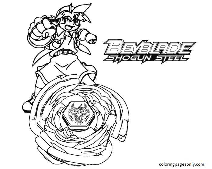 Beyblade Burst 2 Coloring Page