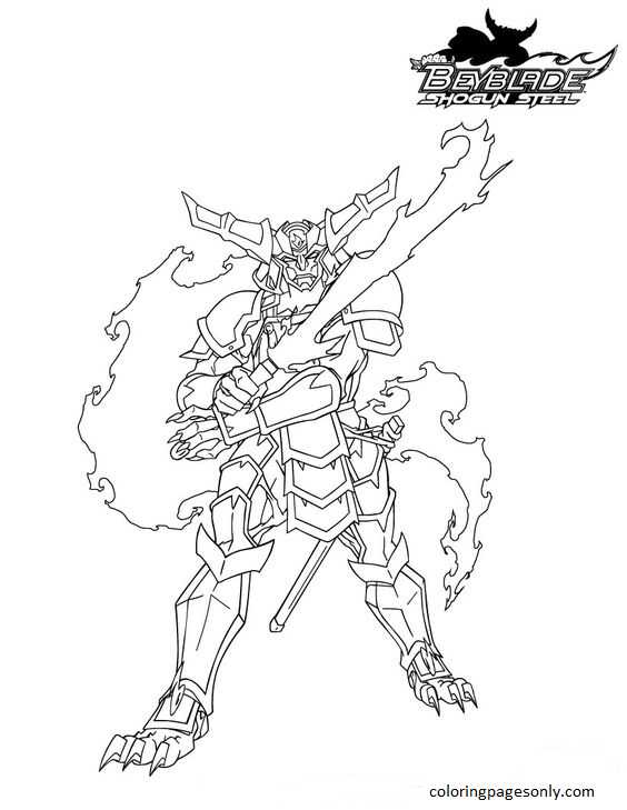 Beyblade Burst 30 Coloring Page